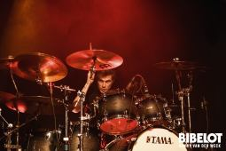 Joey performing with Delain at his final exams.